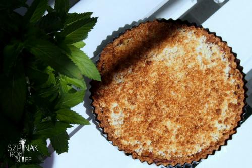 zdrowe ciasto z rabarbarem