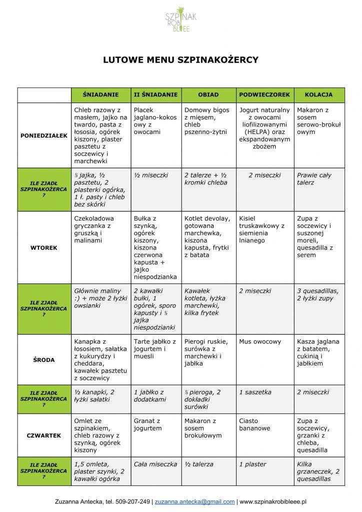 przykładowe menu dla dziecka